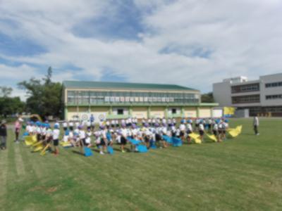 中学年の練習(校庭)